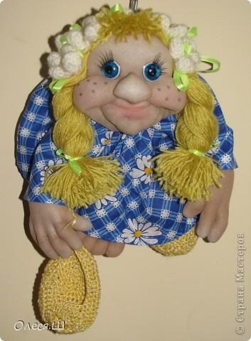 Здравствуйте! Знакомьтесь это моя новая кукла Веснушка))) Вот такая у меня куколка родилась))) фото 2