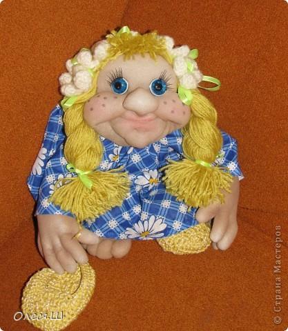 Здравствуйте! Знакомьтесь это моя новая кукла Веснушка))) Вот такая у меня куколка родилась))) фото 1