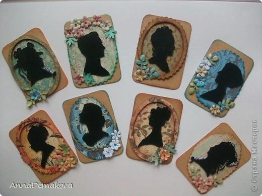 Вот такие силуэты у меня получились. Серия из 8-ми карточек. Сначала отдаю долги Веронике (Пчелка Жужа), Алене (АлЁнА. К), Лидии Петровне (hobby66) и Бакановой Татьяне. А ещё Ксении (Ксюша Токалка) фото 1