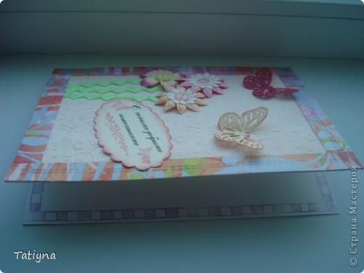 """мои новые три открыточки, создавались под девизом - фантазия отдыхает, но творить хочется, поэтому """"скраплифтинг""""!!! Идеи не мои, но с моими дополнениями... фото 5"""