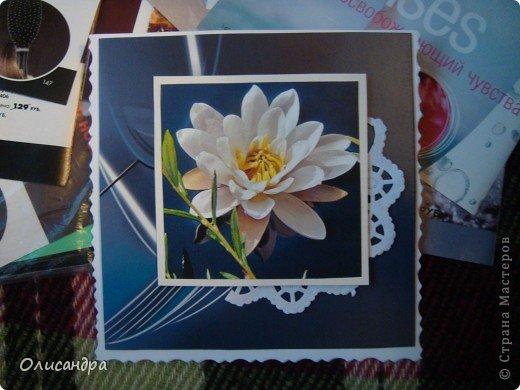 """Девочки! Как называется этот цветок? ******************************************* Окрыленная положительными отзывами, решила повторить свой эксперимент... и сделать еще одну открытку-стойку... Т.е. хотела ,просто, повторить то,что уже делала,но с другой картинкой... http://stranamasterov.ru/node/215641  Т.е. думать не хотелось, хотелось сделать быстренько... Но, кажется, быстренько я не умею...  Опять """"муки творчества"""" длились до середины ночи... фото 5"""
