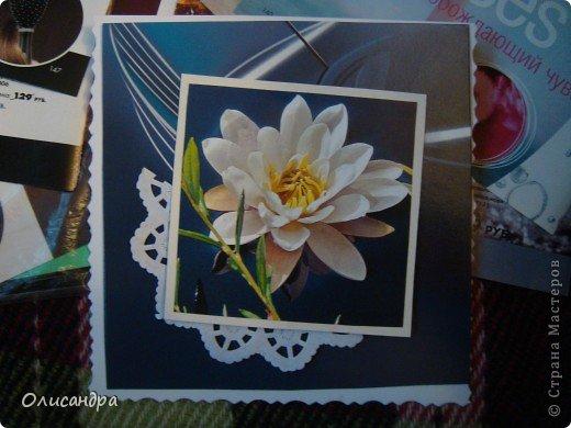 """Девочки! Как называется этот цветок? ******************************************* Окрыленная положительными отзывами, решила повторить свой эксперимент... и сделать еще одну открытку-стойку... Т.е. хотела ,просто, повторить то,что уже делала,но с другой картинкой... http://stranamasterov.ru/node/215641  Т.е. думать не хотелось, хотелось сделать быстренько... Но, кажется, быстренько я не умею...  Опять """"муки творчества"""" длились до середины ночи... фото 6"""