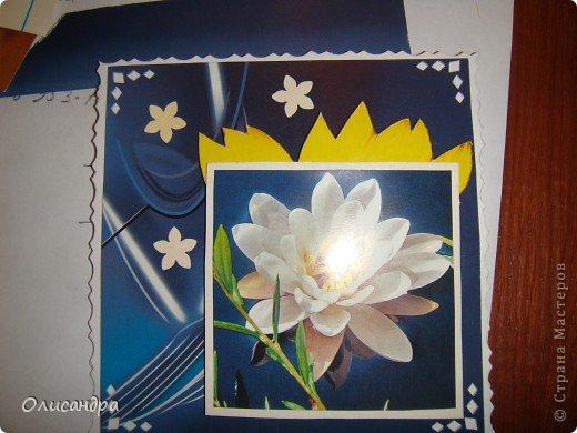 """Девочки! Как называется этот цветок? ******************************************* Окрыленная положительными отзывами, решила повторить свой эксперимент... и сделать еще одну открытку-стойку... Т.е. хотела ,просто, повторить то,что уже делала,но с другой картинкой... http://stranamasterov.ru/node/215641  Т.е. думать не хотелось, хотелось сделать быстренько... Но, кажется, быстренько я не умею...  Опять """"муки творчества"""" длились до середины ночи... фото 10"""