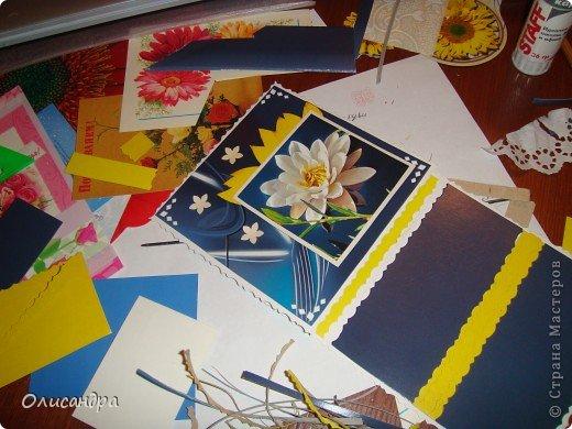 """Девочки! Как называется этот цветок? ******************************************* Окрыленная положительными отзывами, решила повторить свой эксперимент... и сделать еще одну открытку-стойку... Т.е. хотела ,просто, повторить то,что уже делала,но с другой картинкой... http://stranamasterov.ru/node/215641  Т.е. думать не хотелось, хотелось сделать быстренько... Но, кажется, быстренько я не умею...  Опять """"муки творчества"""" длились до середины ночи... фото 11"""