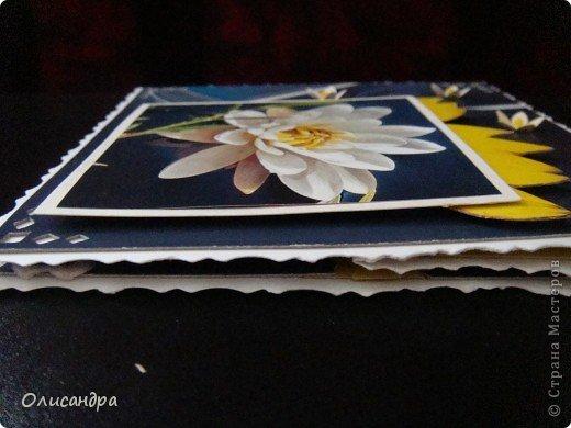 """Девочки! Как называется этот цветок? ******************************************* Окрыленная положительными отзывами, решила повторить свой эксперимент... и сделать еще одну открытку-стойку... Т.е. хотела ,просто, повторить то,что уже делала,но с другой картинкой... http://stranamasterov.ru/node/215641  Т.е. думать не хотелось, хотелось сделать быстренько... Но, кажется, быстренько я не умею...  Опять """"муки творчества"""" длились до середины ночи... фото 18"""