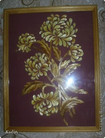Хризантемы (30х40)работа мл.дочери фото 1