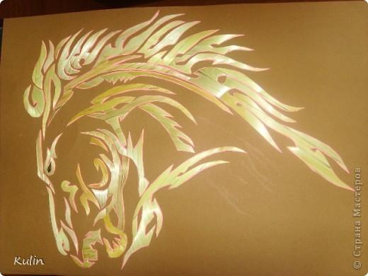 Аппликация Хризантемы конь