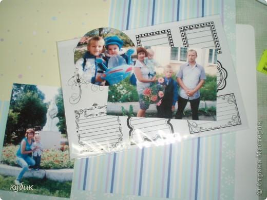 вот такую страничку я сделала в семейный альбом на МК фото 2