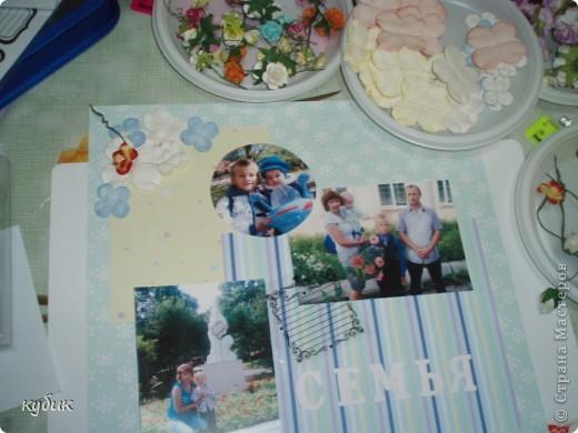 вот такую страничку я сделала в семейный альбом на МК фото 3