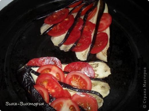 """Баклажаны с сыром и помидорами ... В простонародье : """"Павлиний хвост"""". фото 2"""