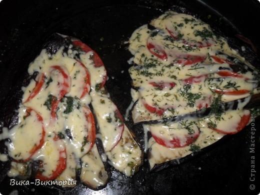 """Баклажаны с сыром и помидорами ... В простонародье : """"Павлиний хвост"""". фото 4"""