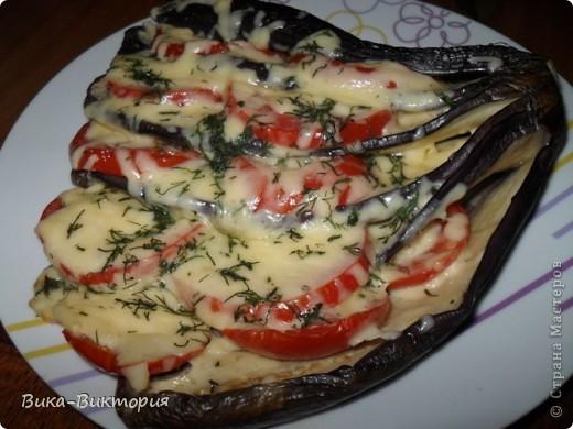 """Баклажаны с сыром и помидорами ... В простонародье : """"Павлиний хвост"""". фото 5"""