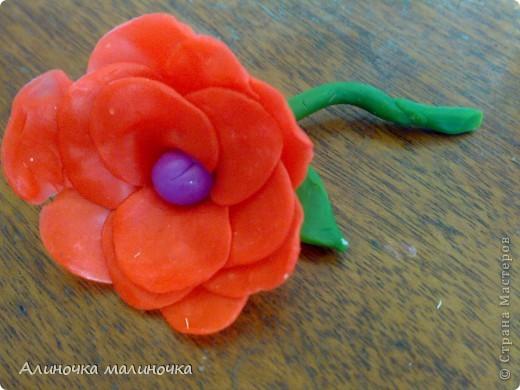 Вот такой вот цветочек я слепила из пластелина! фото 1