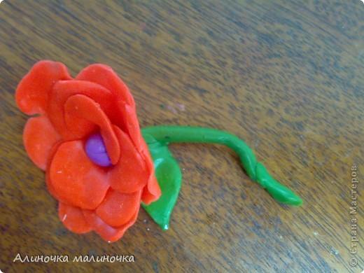 Вот такой вот цветочек я слепила из пластелина! фото 2