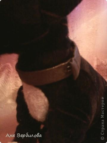 Сшит из меховой сумки.Этакий тигровый питбулька))) фото 5