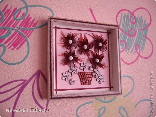 Цветочная фантазия.Букет сделан для детской моим девчушкам.Новым розовым обоям нужно новое украшение. Размер 15*15 см фото 9