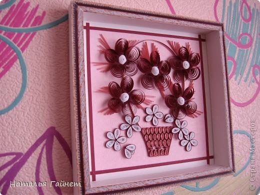 Цветочная фантазия.Букет сделан для детской моим девчушкам.Новым розовым обоям нужно новое украшение. Размер 15*15 см фото 1