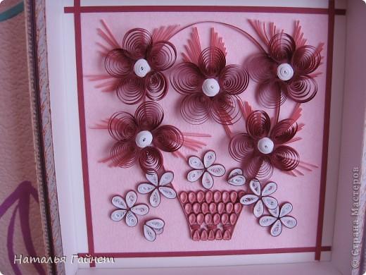 Цветочная фантазия.Букет сделан для детской моим девчушкам.Новым розовым обоям нужно новое украшение. Размер 15*15 см фото 6
