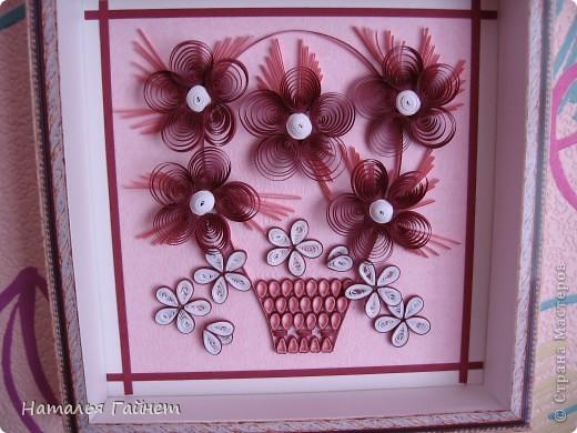 Цветочная фантазия.Букет сделан для детской моим девчушкам.Новым розовым обоям нужно новое украшение. Размер 15*15 см фото 2