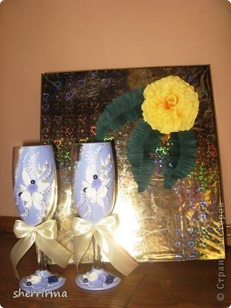 Насмотрелась на работы мастеров, вот тоже захотела сделать набор .. Фотоаппарат не передаёт у меня оттенки синего, поэтому сразу говорю, что на самом деле цвет сиреневый ))))) фото 11