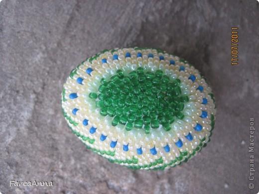 Оплетенное страусиное яйцо фото 17