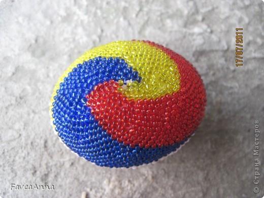 Оплетенное страусиное яйцо фото 22
