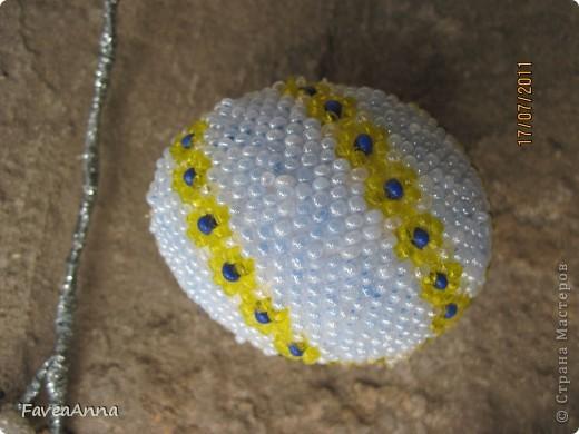 Оплетенное страусиное яйцо фото 23