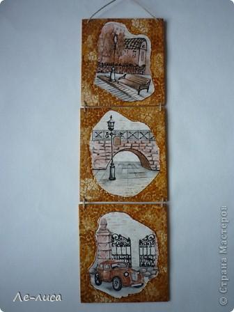 В последнее время я подсела на триптихи с использованием яичной скорлупы. Фанера 14х14, картинки из обоев. фото 1