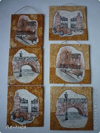 В последнее время я подсела на триптихи с использованием яичной скорлупы. Фанера 14х14, картинки из обоев. фото 5