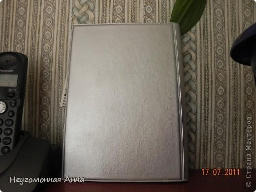 Была у меня обычная телефонная книжка. Из искусственной кожи, коричневая. Смотрела я на неё, смотрела и решила, что очень уж она скучная.  Вот и переделала. Теперь она такая. фото 7