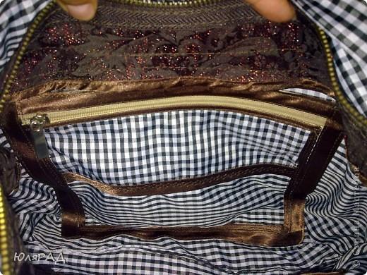 Моя первая сумочка))) Правда с подкладкой не угадала, как-то клеточка здесь не очень смотрится, но для первого раза пойдёт))))  Выкройку взяла здесь http://www.dublirin.com.ua/we_sew_maechka.html фото 3