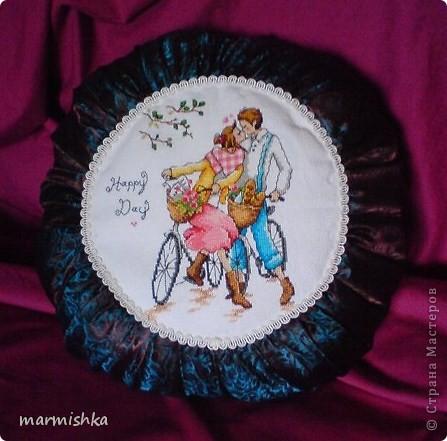 Любовь и велосипеды (подушка Tilda) фото 1