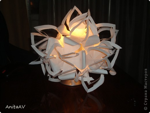 "Меня вдохновила работа ""бумажный шар""  лика2010. Спасибо Вам за МК https://stranamasterov.ru/node/66036. фото 3"