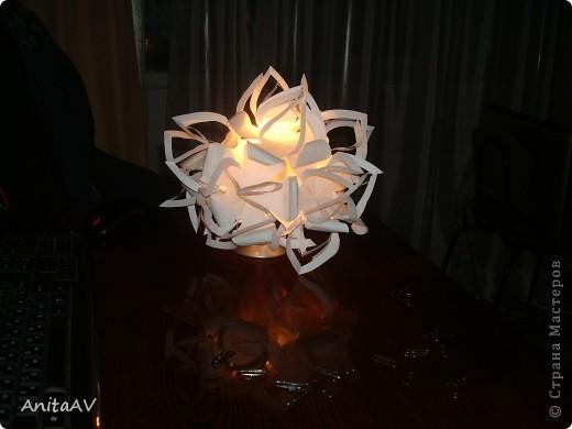 "Меня вдохновила работа ""бумажный шар""  лика2010. Спасибо Вам за МК https://stranamasterov.ru/node/66036. фото 4"