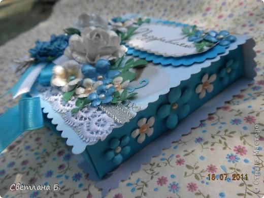 Всем привет! Вот, наконец, и я решилась сделать коробочку. Сделала по этому МК-  http://altered-art.blogspot.com/2011/07/6-express-challenge-6-origami-box.html . В Стране Мастеров есть несколько МК коробочек-оригами: http://stranamasterov.ru/node/151768  ; http://stranamasterov.ru/node/134778     .  На создание моей коробочки меня вдохновили девушки: Konfeta http://stranamasterov.ru/node/214589?c=favusers  и YuliaM  http://stranamasterov.ru/node/214143?c=favusers . Раньше я опасалась делать что-то в технике оригами, но напрасно, оказалось это совсем не сложно.  фото 9