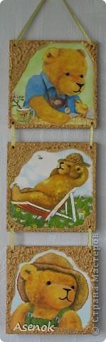 Люблю я мишек, поэтому купив такие вот салфеточки решила сделать панно про жизнь мишек... которые как и люди живут, работают и отдыхают :) фото 1