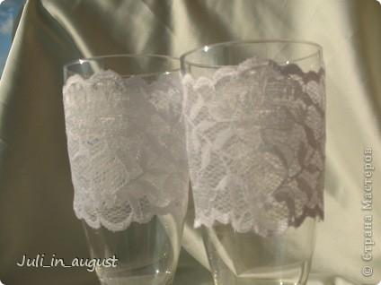 Подготовка к свадьбе продолжается! Это мои свадебные бокалы!  Помимо квиллинга, увлеклась еще пластикой. Спасибо СТРАНЕ МАСТЕРОВ! фото 3