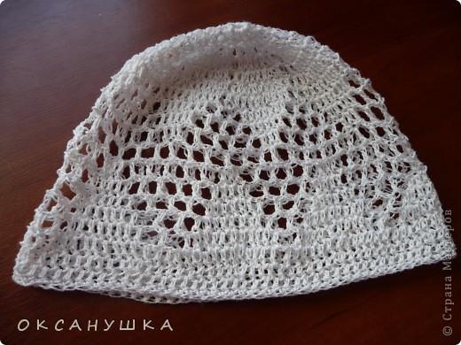 Это первая шапочка на заказ....  в подарок племяшке. (СПАСИБО Голубке за МК) фото 5