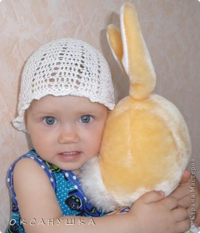 Это первая шапочка на заказ....  в подарок племяшке. (СПАСИБО Голубке за МК) фото 9