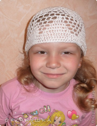 Это первая шапочка на заказ....  в подарок племяшке. (СПАСИБО Голубке за МК) фото 6
