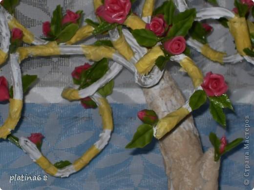 Дерево из роз. фото 5