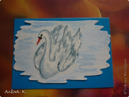 Во всем мире лебеди признаны самыми красивыми птицами. Каждый взмах крыльев, любое движение наполнены грацией и изяществом. Этим прекрасным созданиям посвящена моя новая серия АТС-акварелек) За мной долг для bibka. фото 11