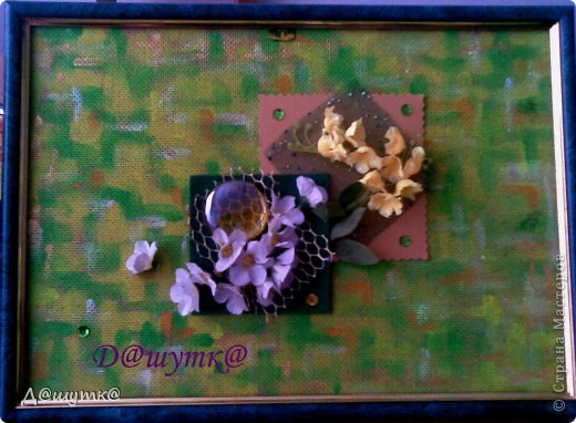 Коллаж из искусственных цветов фото 2
