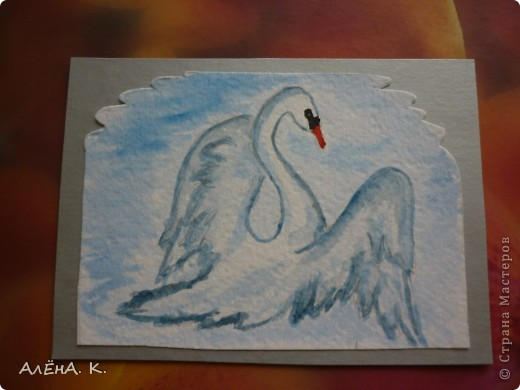 Во всем мире лебеди признаны самыми красивыми птицами. Каждый взмах крыльев, любое движение наполнены грацией и изяществом. Этим прекрасным созданиям посвящена моя новая серия АТС-акварелек) За мной долг для bibka. фото 6