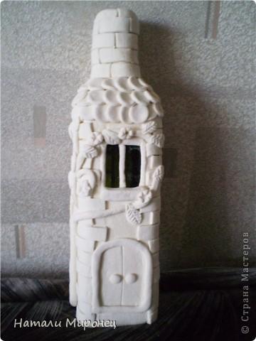 Вот такой домик вылепился. Он ещё беленький. Это вход фото 1