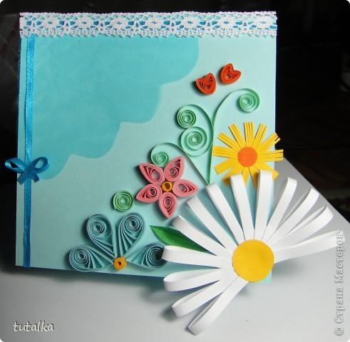 Полуромашечковая открытка;)
