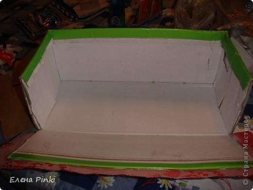 Добрый день мастерицы!!Вот решила запечатлить процесс создания коробки для рукоделия. Никогда раньше подобного не делала, но результат не разочаровал!!очень буду рада если кому то пригодится мой опыт))) фото 2