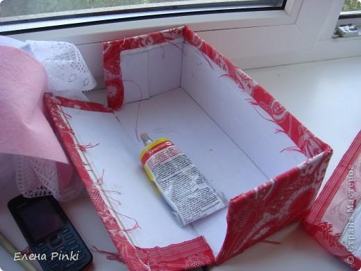 Добрый день мастерицы!!Вот решила запечатлить процесс создания коробки для рукоделия. Никогда раньше подобного не делала, но результат не разочаровал!!очень буду рада если кому то пригодится мой опыт))) фото 4