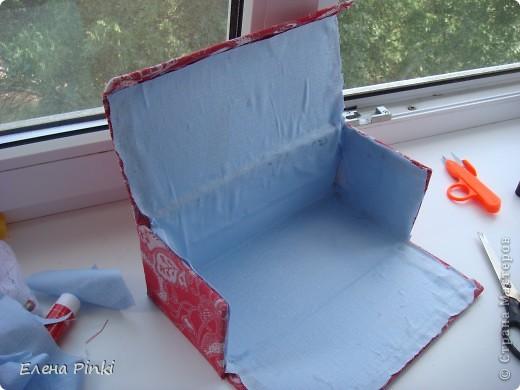 Добрый день мастерицы!!Вот решила запечатлить процесс создания коробки для рукоделия. Никогда раньше подобного не делала, но результат не разочаровал!!очень буду рада если кому то пригодится мой опыт))) фото 6