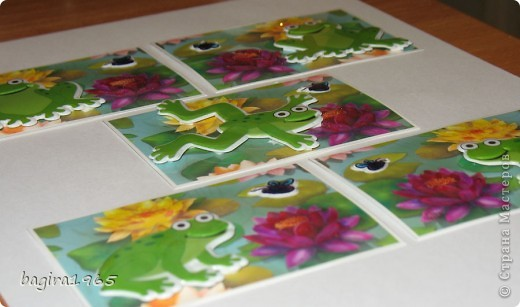 Очень понравился рисунок: такие яркие и симпатичные кувшинки. Простенькая такая серия, но, как мне кажется, очень симпатичная.  Если кредиторам понравится, милости прошу. Одна лягушка точно поедет к Марине (ШМыГа), если она захочет. фото 2